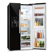Grand Host XXL chladnička, 550 litrů, dávkovač ledu a vody, A +, černá barva Černá