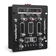 DJ-25, dj-mixer, pult de mixaj, amplificator, bluetooth, usb, negru/alb Negru