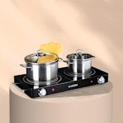 VariCook Duo kookplaat 3000W rvs behuizing handgrepen zwart Zwart