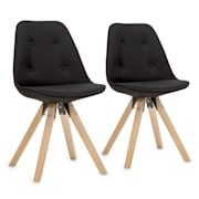 Iseo Shell Chair Set 2-piece Set of Upholstered PP-Shell Birch Black