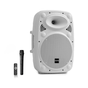"Streetstar 10, sistem mobil PA, 10"" (25.5 cm), UHF microfon, 400 W max., alb Alb | 400 W"