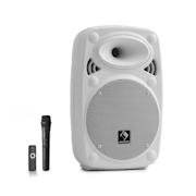 "Streetstar 8, sistem mobil PA, 8"" (20 cm), UHF microfon, 200 W max., alb Alb | 200 W"