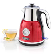 Cancan waterkoker 1.6L 1800-2150W retro design 360 basis rood Rood