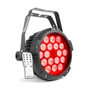 BWA418 LED PAR, reflektor, 18 x 12 W, 4 v 1, LED světla, RGBW, IP65, černý