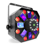 MULTIACIS IV LED DERBY, LASER, MYŠTĚNÍ STROBE DMX- / STAND-SINGLE REŽIM