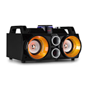 "MDJ100 Media-Player USB SD BT AUX 100W Verstärker 2x4"" Speaker RGB-LED"