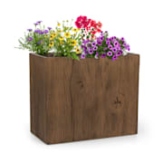 Timberflor, kvetináč, 60 x 50 x 30 cm, sklolaminát, do interiéru aj exteriéru, hnedý 60 x 50 x 30 cm