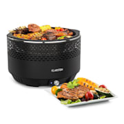 Micro-Q 3131 Charcoal Grill, Round, 31 cm (Ø) Grill Grate, Black