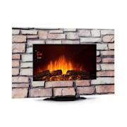 Colmar cheminée électrique verre 2000 W 7 Couleurs LED Télécommande