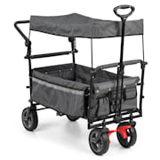 Easy Rider Handcart With Cover Up To 70kg Telescopic Rod Grey Grey