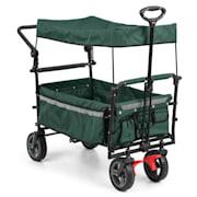 Easy Rider, количка с покрив, до 70 кг, телескопична дръжка, сгъваем, зелен цвят Зелен