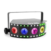 DJ X5 Array, 5x 10W 4v1, 30x SMD RGB DMX nebo stand-alone, černá barva