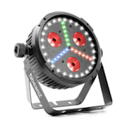 BX30 PAR LED reflektor 3x10W 4-v-1, SMD W, 18x SMD RGB LEDky, černý