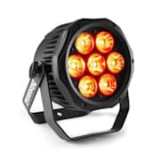 Profesjonalny BWA410 LED PAR, 7x10W, 4 w 1 diody, LED, RGBW, Wodoodporna, czerń