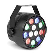 Party, PAR reflektor, 12 x 1 W RGBW LED diody, DMX, samostatný provoz, ovládání zvukem, 7 kanálů