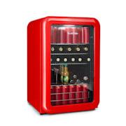 PopLife, хладилник за напитки, хладилник, 115 литра, 0 - 10 °C, ретро дизайн, червен Червен | 115 Ltr