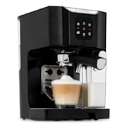BellaVita, kávéfőző, 1450 W, 20 bar, tejhabosító, 3 az 1-ben, fekete Fekete
