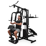 Ultimate Gym 9000, fitnesz állomás, 7 állomás, max. 150 kg, QR acél, fekete Fekete