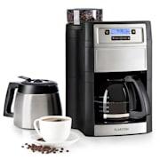 Aromatica II Duo Macchina del Caffè, Macina Integrata 1,25 l nero argento | Caraffa in vetro & termica