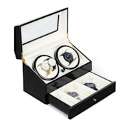 Geneva Watch Winder 4 Watches 4 Modes Drawer Black Black