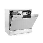 Amazonia Máquina de Lavar Loiça 8 Programas Display LED Prateada Prateado
