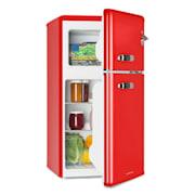 Irene, retro hladilnik z zamrzovalnikom, hladilnik 61 l, zamrzovalnik 24 l, rdeča  Rdeča