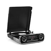 Challenger, LP gramofón, bluetooth, VHF-rádio, USB, čierny Čierna