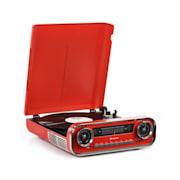 Challenger, LP gramofón, bluetooth, VHF-rádio, USB, červený Červená