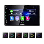 "MVD-400 CP, radio auto, 7 "" touch screen, 4 x 45 W max., BT, Android Auto, USB, 2 DIN, negru"