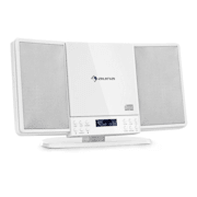 V14-DAB, sistem stereo vertical, CD, FM și DAB + Tuner BT, alb Alb