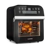 AeroVital Cube Hot Air Fryer 1600W 12l Timer 16 Programmes Black Black