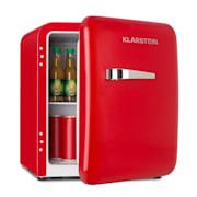 Audrey, mini retro, hladnjak 48 l, 2 razine, A+, crveni Crvena