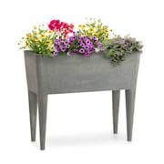 Mammutgrow, visoka cvetlična postelja, 76 x 65 x 37 cm, UV zaščita, zaščita proti zmrzovanju, siva Siva