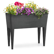 Mammutgrow Raised Growing Bed 76 x 65 x 37 cm UV and Frost Protection Anthracite Anthracite