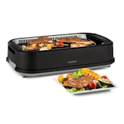 Köfte elektrische barbecue 1500W touch controlepaneel wateropvang zwart