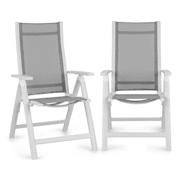 Cádiz, сгъващ се стол, комплект 2 броя, 59,5 x 107 x 68 cm, ComfortMesh, цвят бял Бял