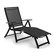 Pomporto Lounge Chair PVC PE Alumínio 7 Níveis Antracite Anthracite