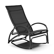 Beverly Wood Leżak fotel bujany aluminium, czarny Czarny