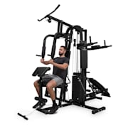 Ultimate Gym 9000, 7 stanica, do 150 kg, QR čelik, crna  Crna