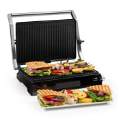 Buffalo Contact Grill Panini Maker 2000W Stainless Steel Silver / Black Non-stick coating: marbled
