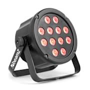 SlimPar 35, LED-стробоскоп, 12x 3W 3in1 RGB светодиоди, DMX / самостоятелна работа, черен