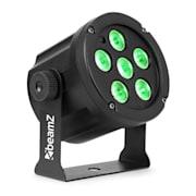 SlimPar 30, LED рефлектор, 6 x 3 W 3 в 1 RGB светодиоди, дистанционно управление, черен