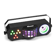 LightBox 3 party effect par-/derby-/visual-ring-effekt RGBAW-UV svart