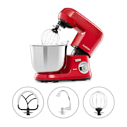 Bella Robusta Metal Food Processor 1.200 W 6 Steps 5.5 Litres Red Red