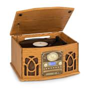 NR-620, DAB, sztereó rendszer, fa, lemezjátszó, DAB+, CD lejátszó, barna Barna