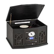 NR-620, DAB, sztereó rendszer, fa, lemezjátszó, DAB+, CD lejátszó, fekete Fekete