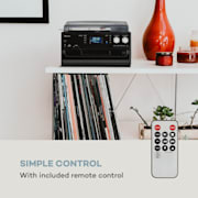 Oakland DAB, retro stereo sustav DAB +/FM radio prijamnik, Bluetooth funkcija, vinil ploče, CD, kazete S DAB+ i FM radiom