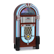 Graceland DAB, jukebox, BT, CD, vinil, DAB+/FM, USB, SD, AUX bemenet, LED lámpa