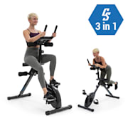 Azura Fusion Exercise Bike Home Trainer 3in1 Cardio / Standing Bike AB Trainer