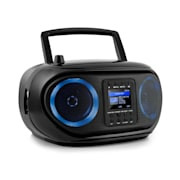 Roadie Smart, boombox, internet rádió, DAB/DAB+, FM, CD lejátszó, LED, WiFi, bluetooth Fekete